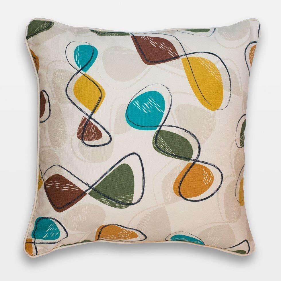 Retro Cushions 50s Style Cushions Retro Atomic Design 45cm Sq Cushions