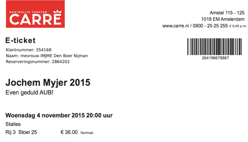 S21064 - Jochem Myjer Tickets
