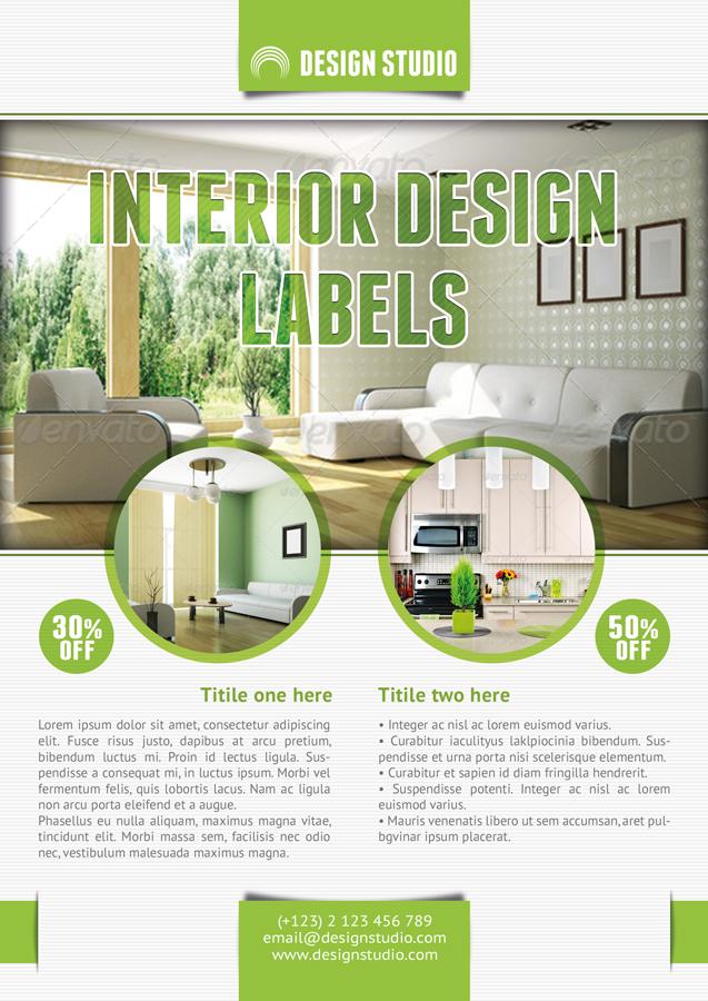Interior Design Flyer Template - interior design brochure template