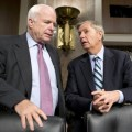 Trouble: Senators Graham & McCain trying to control future of Egypt