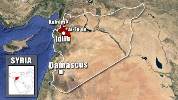 1-Kafarya and Foua Syria map