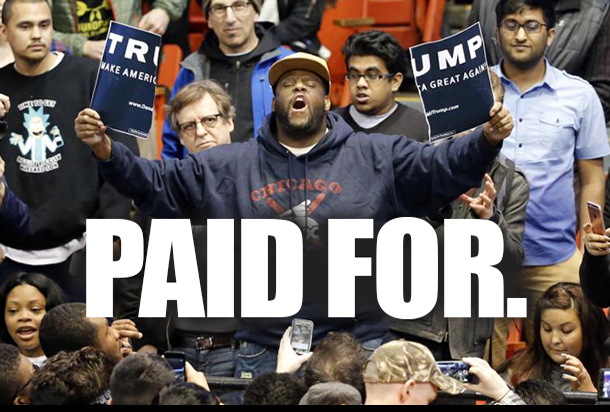 """Dubious Reports of Advertisements Seeking Trump Protesters: """"Get Paid Fighting Against Trump"""""""