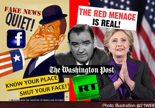 FAKE NEWS Trump Facebook Hillary Putin Red Scare RT