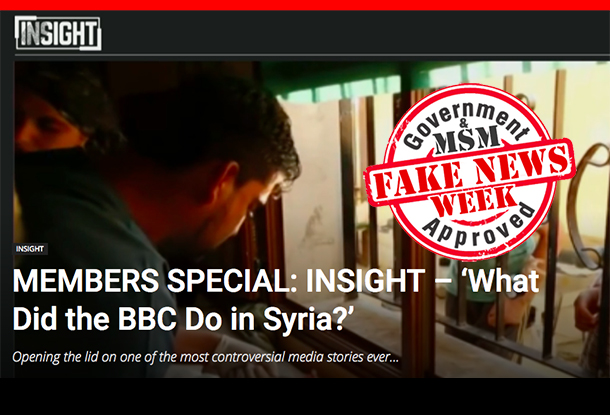 INSIGHT: 'What Did the BBC Do in Syria?'