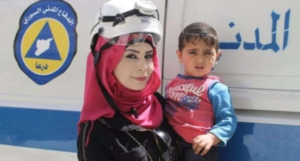 female white helmets