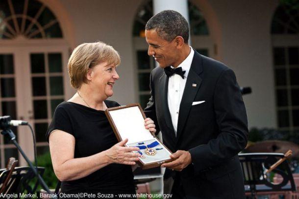 1 Bilderberg Angela Merkel and Barack-Obama