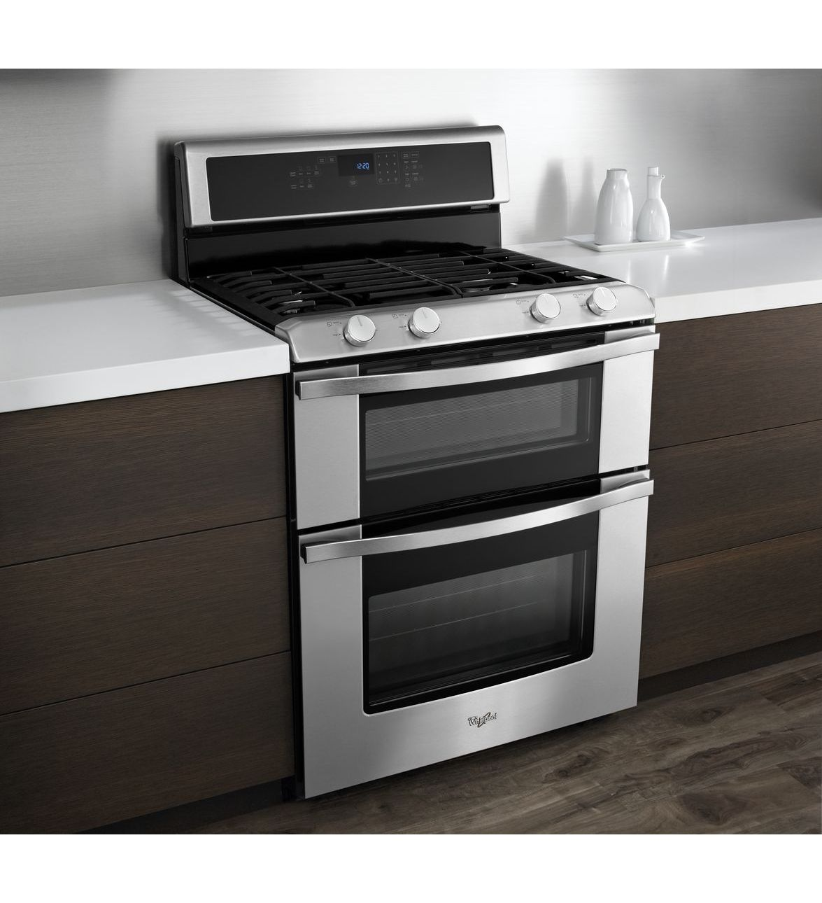 Whirlpool Countertop Stove Whirlpool 3wgg555s0bs 6 Total Cu Ft Double Oven Gas Range With Accubake System 220 Volts 50 Hz