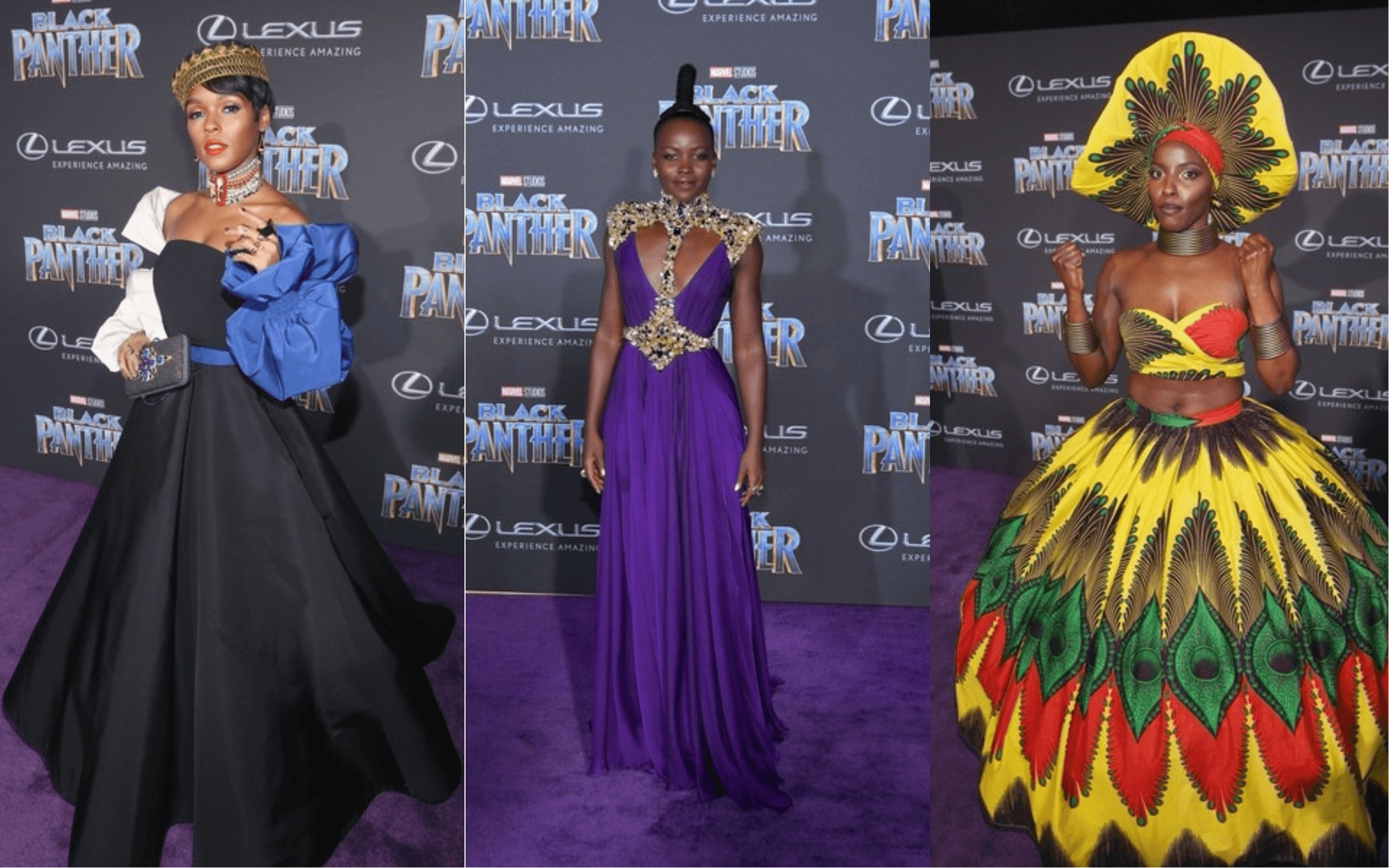 The Black Panther Premiere Red Carpet Was Dripping In