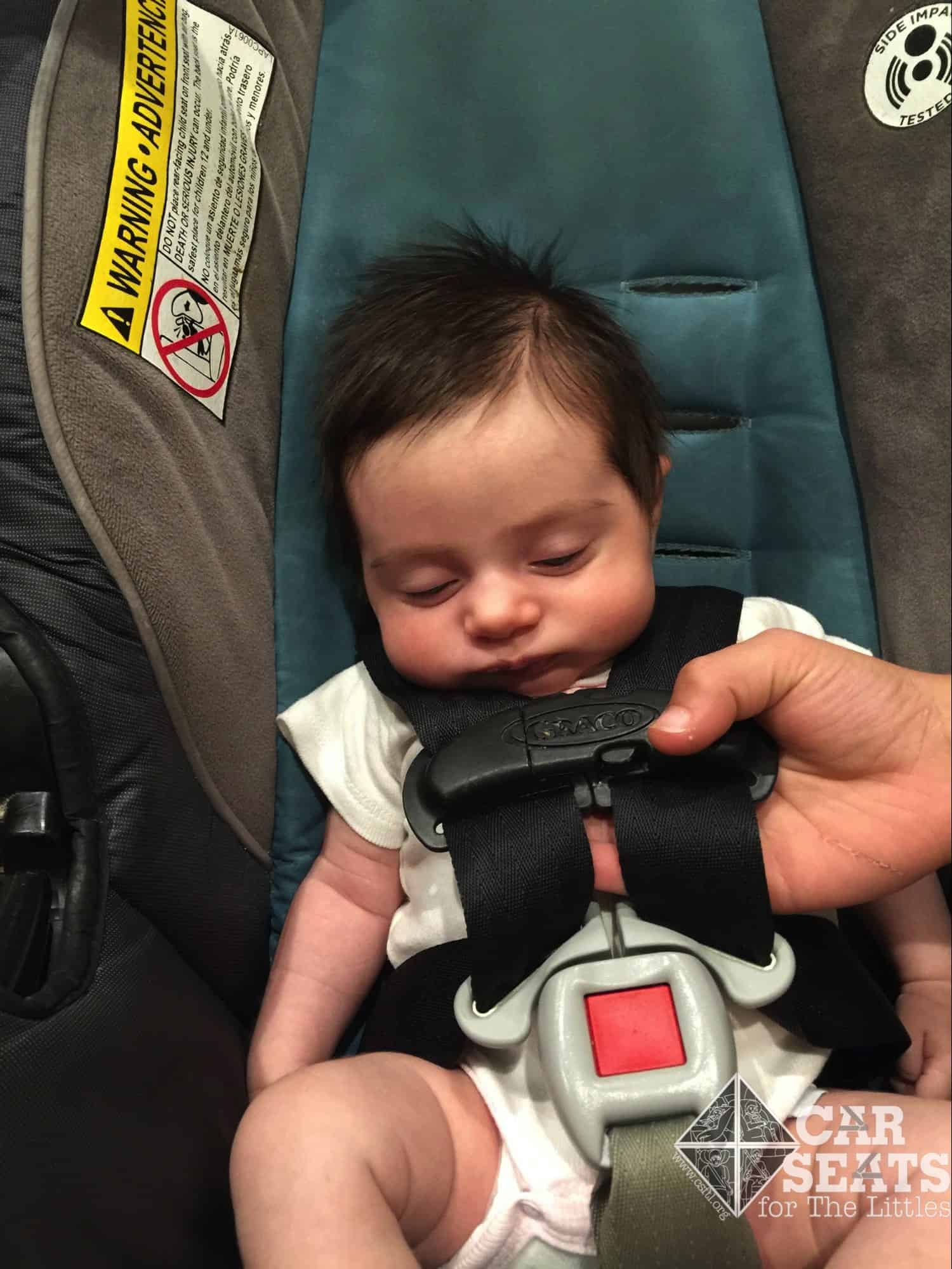 Newborn Car Seat Set Up Adjusting The Harness Strap Length On Graco Rear Facing Only