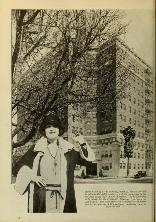 Norma Talmadge was given the Talmadge Apartment Building in LA - rental reference letter