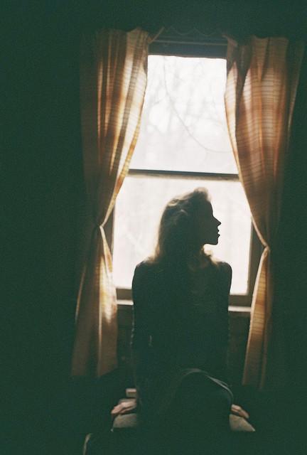 Dark Cozy Girl Wallpaper Photography Girl Light Film Sad House Shadow Window Analog