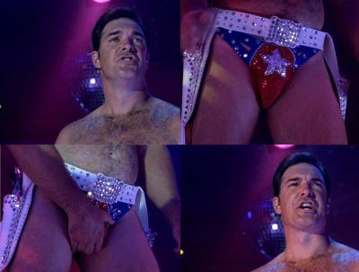 Patrick Warburton naked, nude, hairy chest, bulge, dick, cock, penis, full-frontal nudity, speedo, butt, ass
