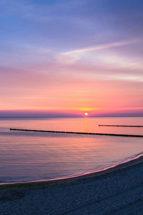 Wallpapers Clean Cute Desktop Beautiful Awesome Sun Ocean Sunset Vertical Plasmatics