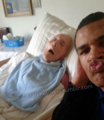 sexy duck lips for dying grandpa