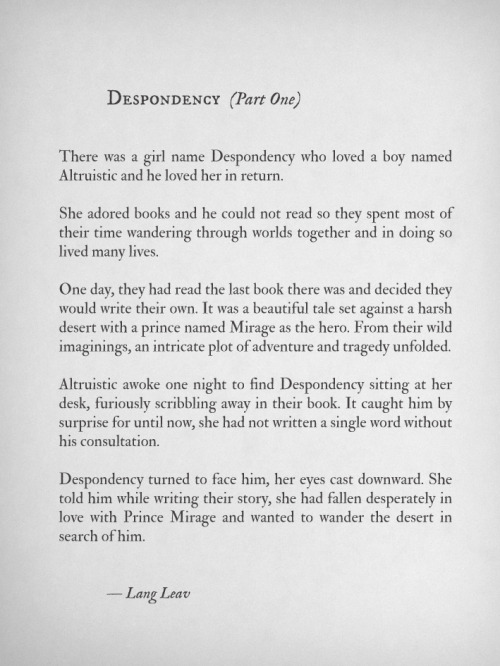 Despondency (Part 2) by Lang Leav Lang leav Pinterest - how to write a paper