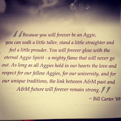 11 Aggie Words to Live By-  - graduation program