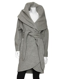 im snobb. - Mara Hoffman Shawl Collar Wrap Coat $660 loveeee