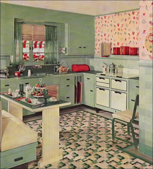 Vintage Green Kitchen Cabinets 1000+ Images About The 1950's Kitchen On Pinterest | 1950s