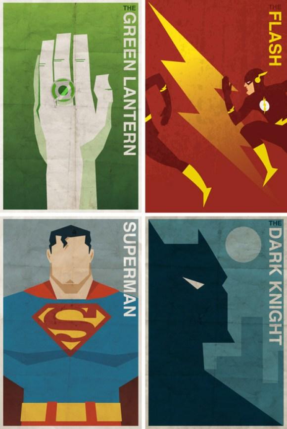desenhos nerds super heróis