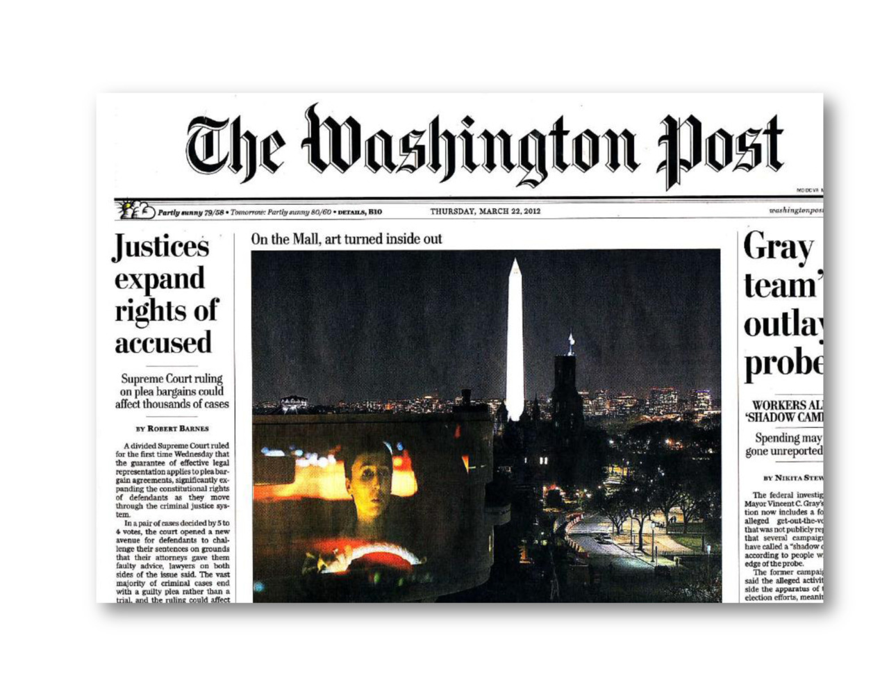 Washington Post Front Page