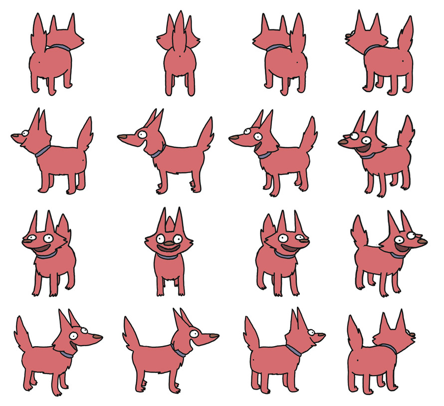 Rocket Dog all angles AAxiomatic Underground SubCulture Macabre - free isometric paper