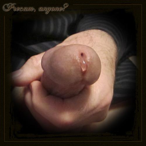 precum masturbating penis