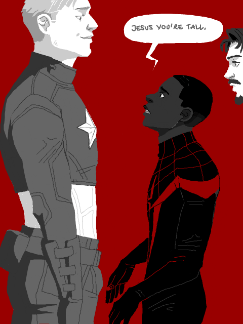Kiss X Sis Iphone Wallpaper Spiderman Iron Man Tony Stark Captain America Steve Rogers