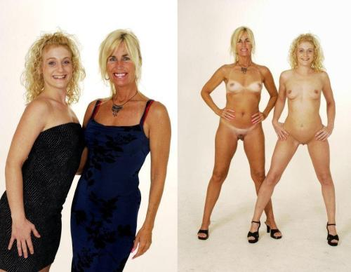 sexy senior women dressed undressed