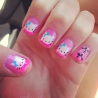26 Overwhelming Hello Kitty Nail Designs - SloDive