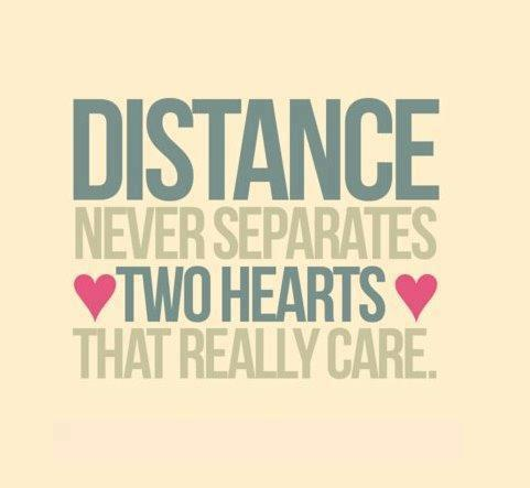 Distance never separates two hearts that really care Quotes - free printable sorry cards