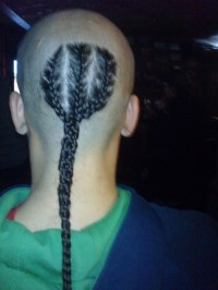 men with braids