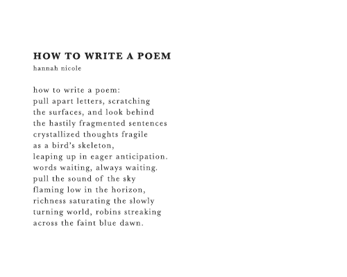 How to write an essay on poetry