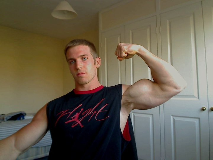 Bicep flex of a young UK bodybuilder Adam Charlton Menu0027s Fitness - height weight chart