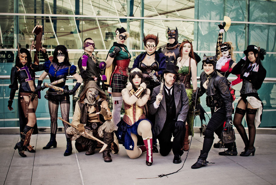 This Work Crew Is Awesome Quotes Wallpaper Batman Cosplay Robin Scarecrow Catwoman Steampunk Batgirl