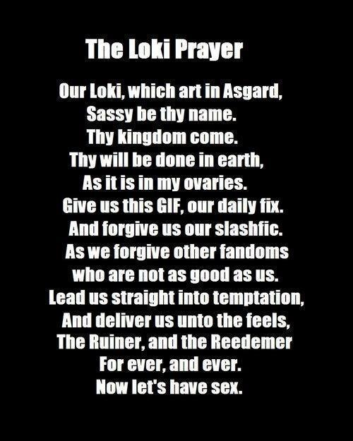 MY daily prayer (Loki) Loki~ Pinterest - proper minutes format