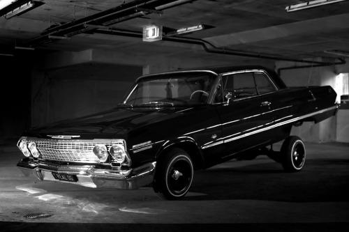 Gangsta Girls And Lowriders Wallpaper Black And White Style Nigga Gangsta Impala Lowrider Chevy