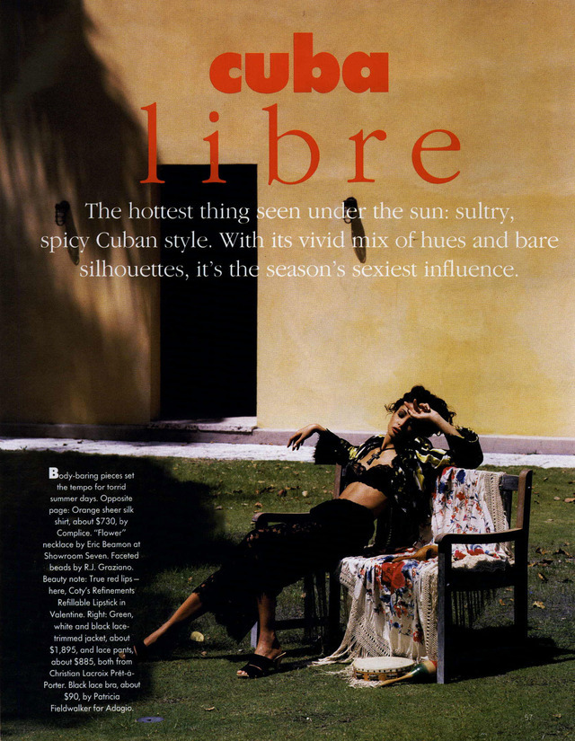 Cuba Libre - cover note