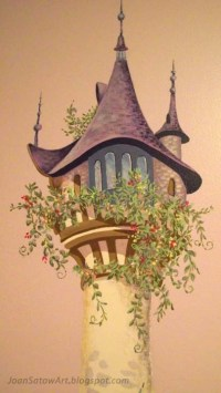 The Art of Tangled  Wall Murals by Joan Satow Wall Mural ...