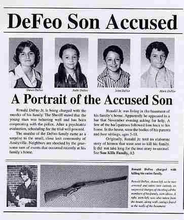 The lutz family Paranormal pictures,places,etc Pinterest - mock police report