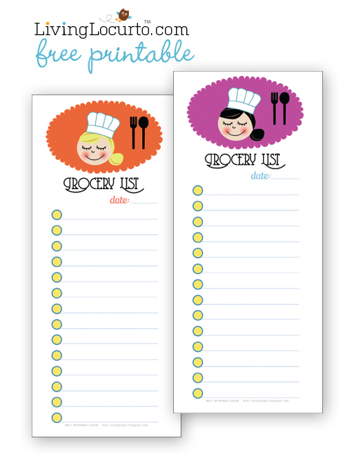 Free Grocery List Printable - 24/7 Moms