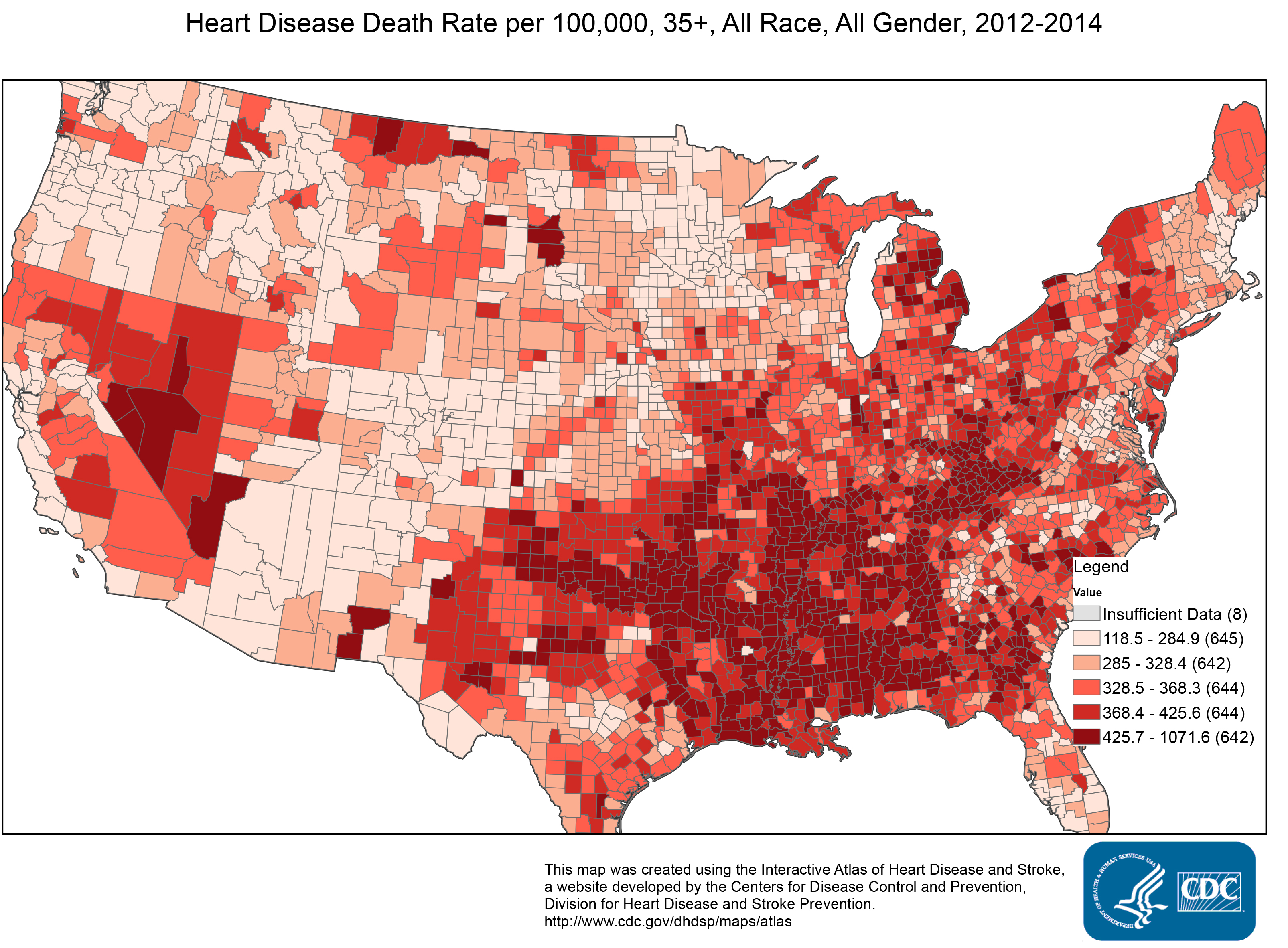 Prevalence Heart Disease Cities With The Highest Risk Of Heart Attack 24 7 Wall St