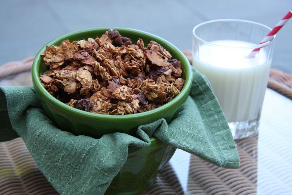 Dark Chocolate Almond Granola I 24 Carrot Life