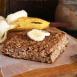 Banana Carob Baked Oatmeal // 24 Carrot Life. The perfect meal prep idea for a quick breakfast that will keep you full for hours.