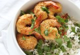 Baked Coconut Shrimp with Cilantro Lime Rice // 24 Carrot Life #24carrotlife