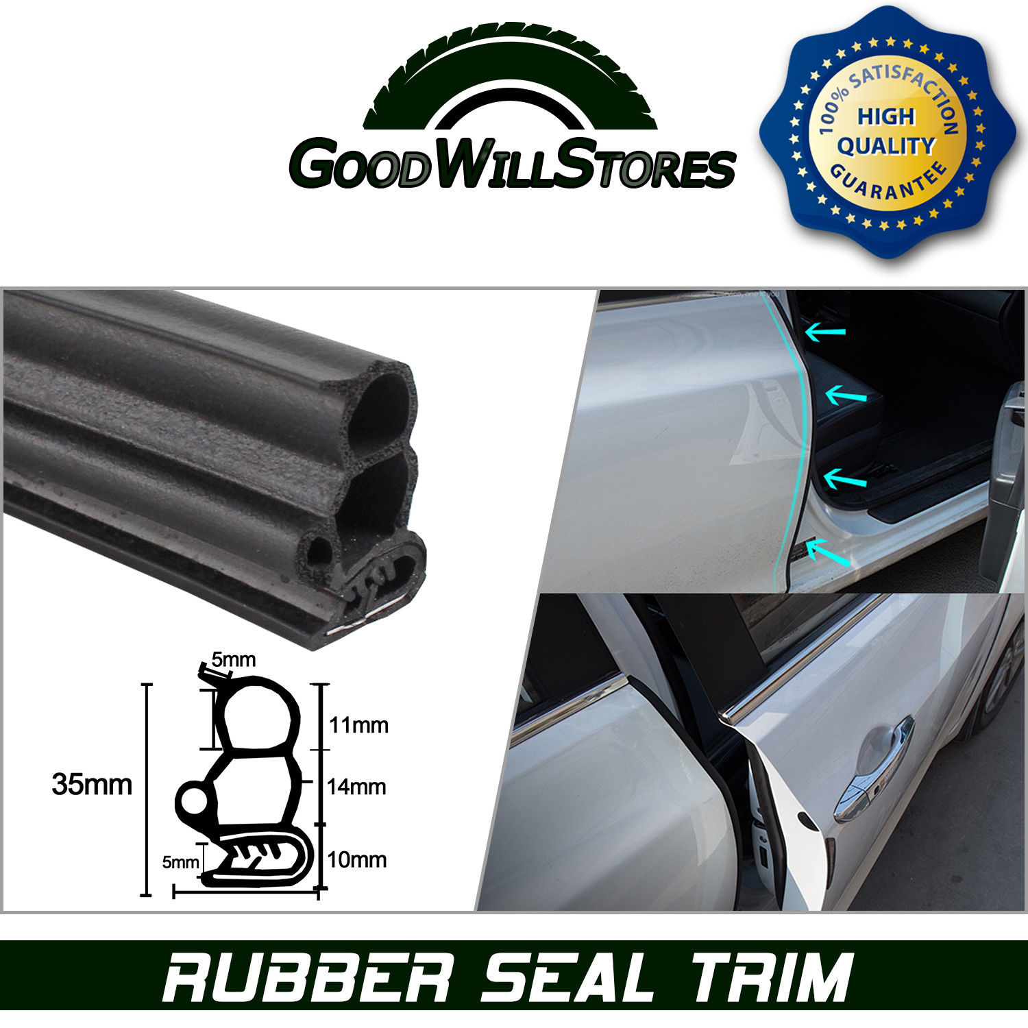 Rubber Seal Strip Great Rubber Seal Strip Edge Trim Lok Auto Interior Exterior Soundproof Aegis 3fts 2018 2019