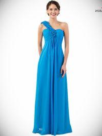 Light Grey Blue Bridesmaid Dress