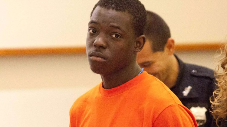 "Rapper Ackquille Pollard aka ""Bobby Shmurda"" is arraigned in Bronx County Court on July 23, 2015."
