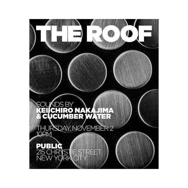 Tonight at the @publichotels #theroof
