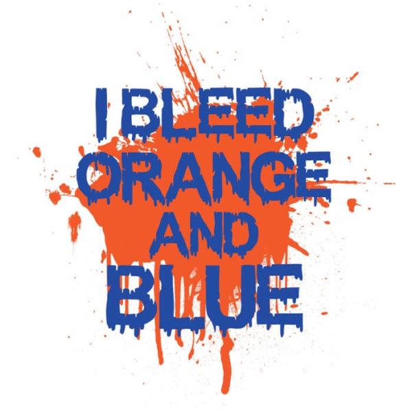 I Bleed Orange and Blue T-Shirt - 24 Hour Tees