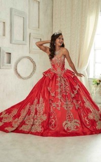 Quinceanera Dresses red and gold 2016-2017 | B2B Fashion